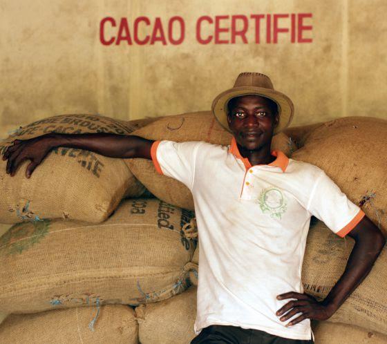 Producción de cacao en Petit Bonduku, en el área de Subré (Costa de Marfil).