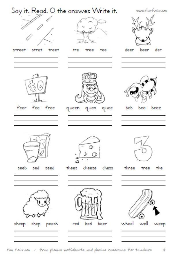 Phonic Worksheet Ow Blends Worksheet