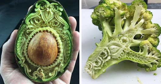 Artist Carves Everyday Foods into Exquisitely Patterned Masterpieces