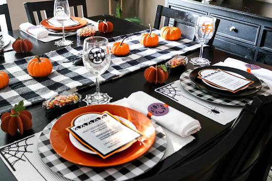 Halloween Tablescape Made with Cricut Maker - That's What {Che} Said...
