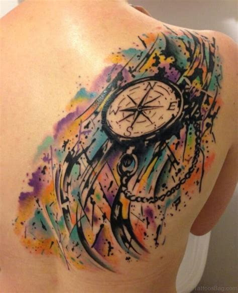 excellent compass tattoos designs