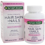 Nature's Bounty Optimal Solutions Extra Strength Hair Skin & Nails 150 Liquid Softgels