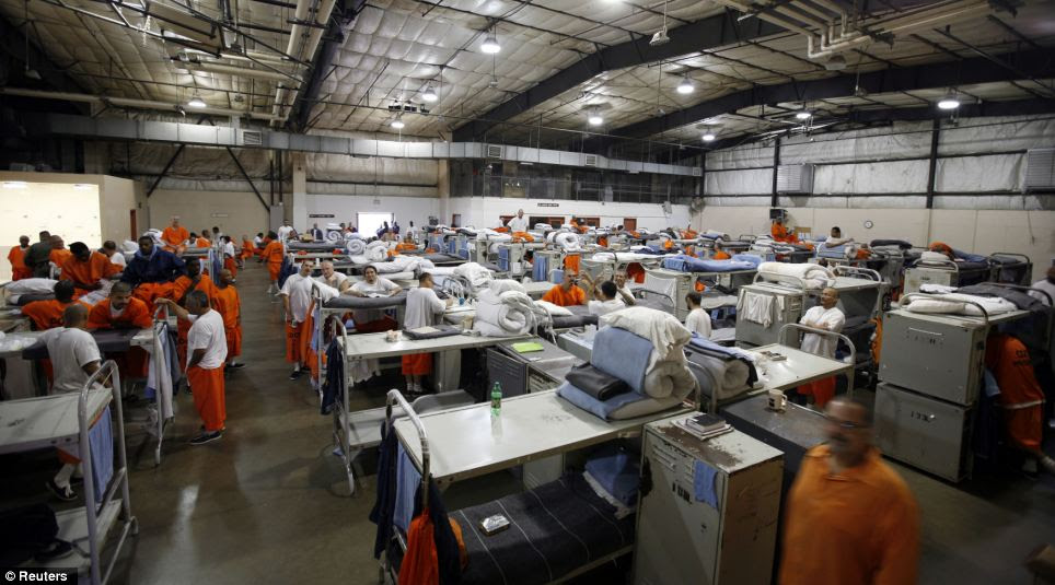 The Richard J. Donovan Correctional Facility in San Diego, pictured, is another of those drastically overstretched by increased prisoner numbers