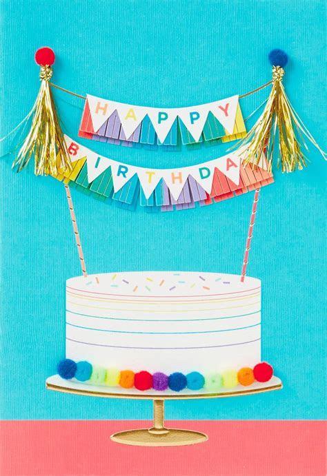 Rainbow Cake Birthday Card   Greeting Cards   Hallmark