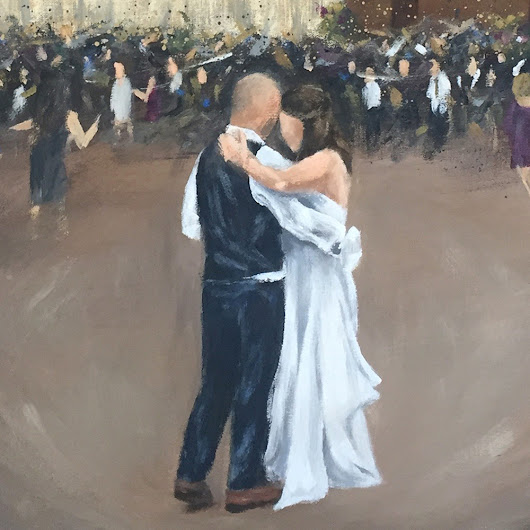 Live Wedding Painting at Irongate Equestrian Center