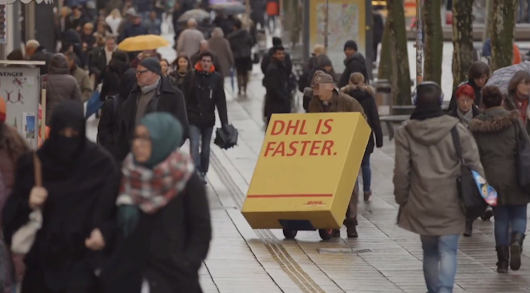 DHL tricks rivals into delivering color-changing ads in disguise