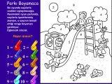 Sayılı Park Boyama Online Eğitici öğretici Bilgilendirici Ders Oyunları