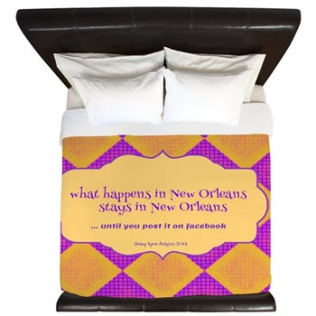 New Orleans Saying King Duvet