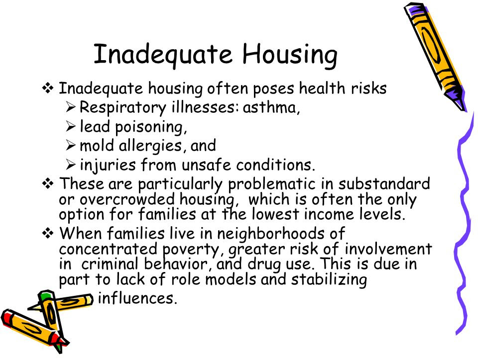 Inadequate+Housing+Inadequate+housing+often+poses+health+risks