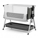 Baby Bed Side Crib Portable Adjustable Infant Travel Sleeper Bassinet-Dark Gray - Color: Dark Gray
