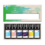 Pursonic 100% Pure Essential Oil Blends Gift Set, 6 Ea/ Pack