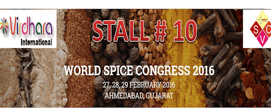 WORLD SPICE CONGRESS 2016 STALL NUMBER 10