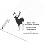 Buck in the field Silhouette Yard Art Woodworking Pattern - fee plans from WoodworkersWorkshop® Online Store - deer,animals,silhouettes,shadow art,black yard art,painting wood crafts,jigsawing patterns,drawings,plywood,plywoodworking plans,woodworkers projects,workshop blueprints