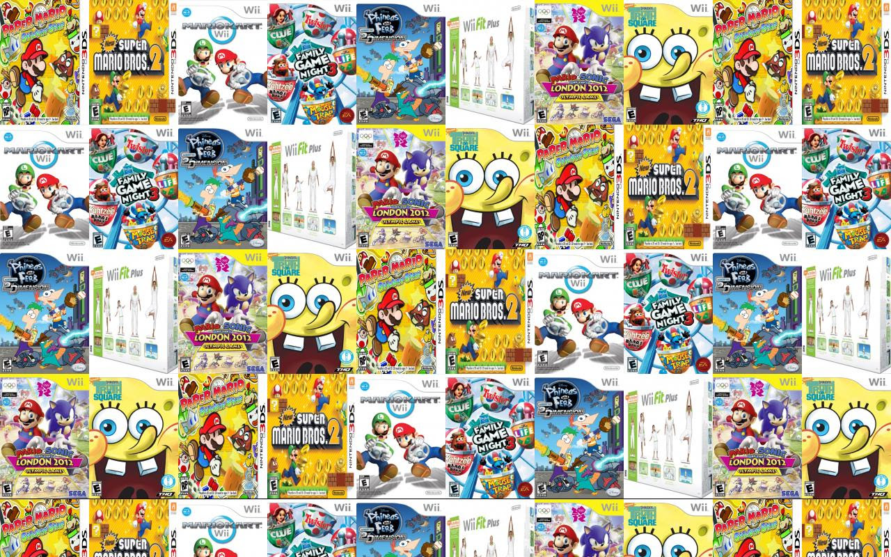 Super Paper Mario Wii Super Mario Bros Ds Wallpaper Tiled