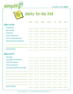 Daily To-Do List for Kids