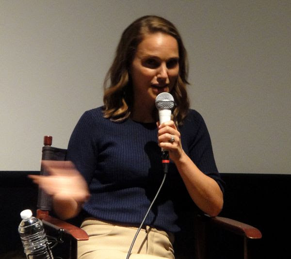 Natalie Portman takes part in a Q&A panel for EATING ANIMALS at Landmark Theatres in west Los Angeles...on June 23, 2018.