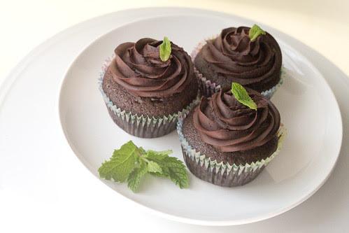 Mint Chocolate vegan cupcakes