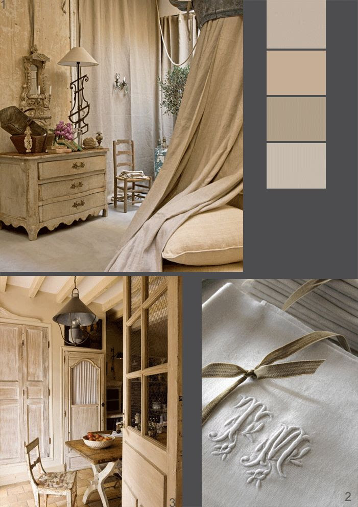 Sublime French Chatea interiors #French #chateau # neutral #linen #monogramme #brocante #romantic