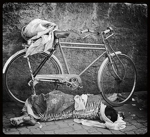 The Fallen Woman On The Street by firoze shakir photographerno1