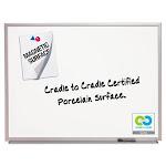 Magnetic Dry-Erase Board, Porcelain, 48 X 36, White, Aluminum Frame