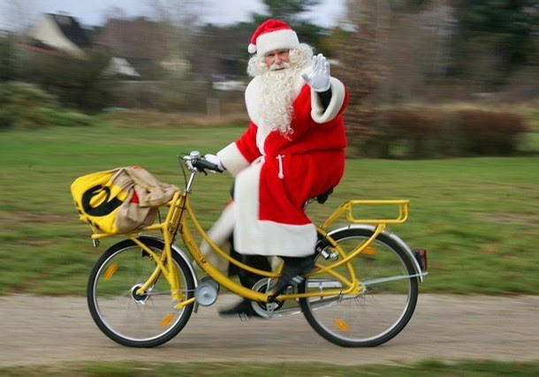 Santa on a Bicycle - Germany