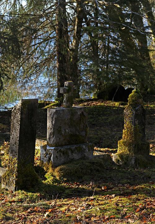 headstones in Kasaan Cemetery, Kasaan, Alaska