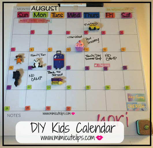 DIY Kids Calendar #LittleCuteLips - MimiCuteLips