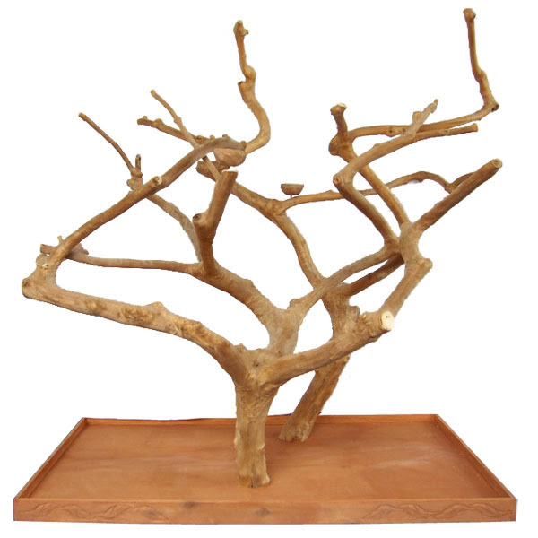 Ae400l Large Double Java Wood Bird Tree