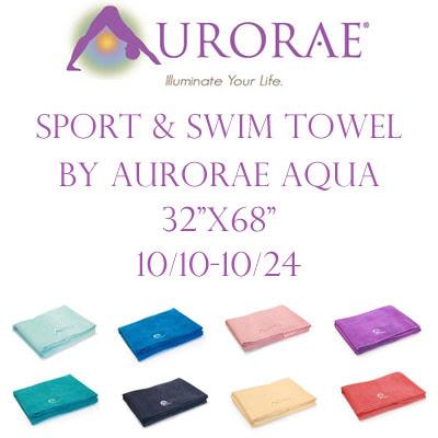 Aurorae Sport & Swim Towel Giveaway. Ends 10/24