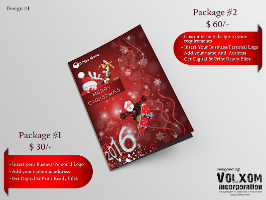Provide Christmas Deal (X-Mas Card Design) + YOUR LOGO IN IT + YOUR MESSAGE IN IT for $30