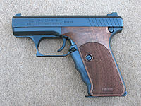 HK P7M8 with Nill Wood Grips.