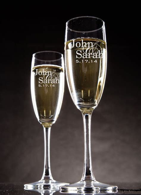 25  Best Ideas about Personalized Champagne Flutes on