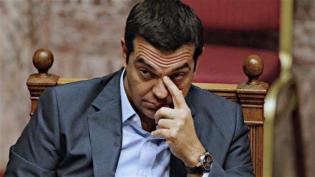 Le premier ministre grec Alexis Tsipras, à la Voul