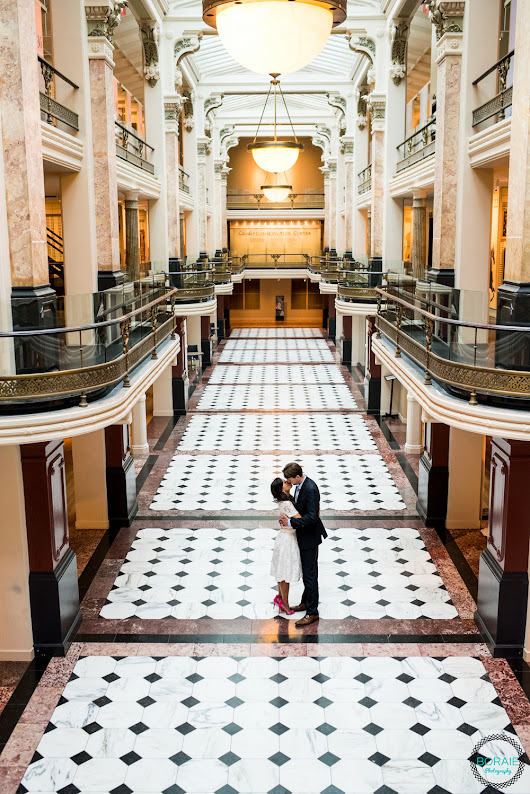 Engagement Session at National Portrait Gallery in Washington DC