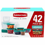 Rubbermaid 42 PC Press and Lock