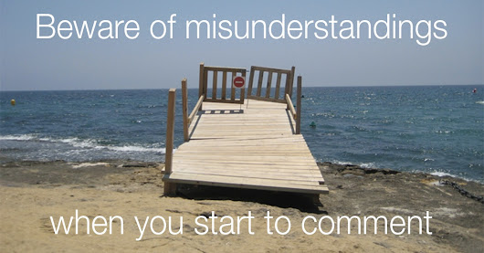Misunderstandings to avoid when starting to comment | The Commenting Club