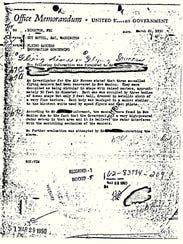 This 1950 document shows a Federal Bureau of Investigation