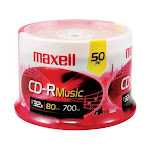maxell 700MB 48X CD-R 50 Packs Spindle Media Model 625156