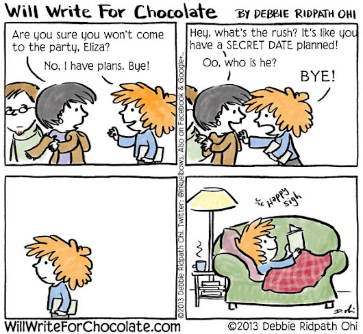 Eliza's Secret Date - Will Write For Chocolate - via @inkyelbows