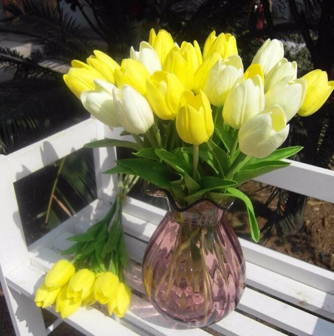 Gnw Fltu363cm Cheapest Decorative Flowers Silk Artificial Pink Tulip Flowers For Sale  Buy