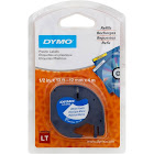 "DYMO LetraTAG Label tape, 0.47"" x 13.1' Roll, Black on White"