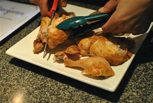 table side bier chicken