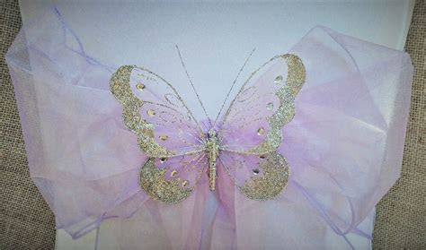 XLarge butterfly wedding chair sash decoration top table