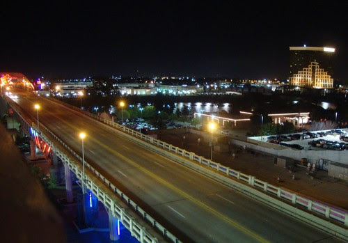 Shreveport: Red River and Neon Bridge by trudeau