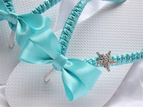 Bridal Sandals, BRIDAL Flip Flops Bridal Shoes, Aqua Flip