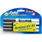 Expo Dry Erase Markers, Fine Tip, Black - 4 pack