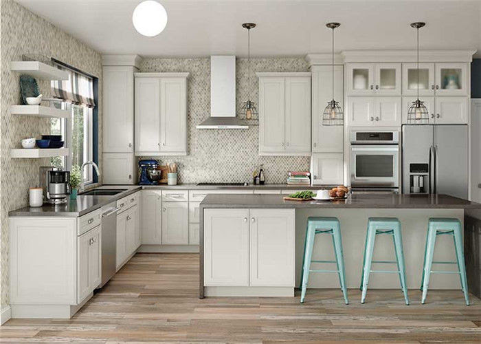 Modular Solid Wood Kitchen Cabinets Paint Door Finish Blum ...