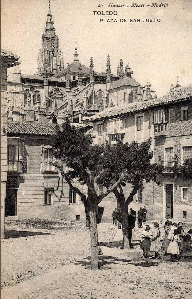 Plaza de San Justo hacia 1900. Fotografía de Hauser y Menet