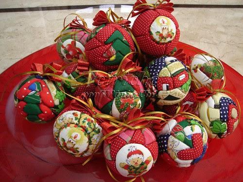 Bolas de Natal em Patchwork - 2