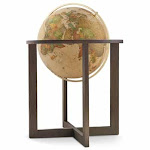 Waypoint San Marino Globe, 20-inch , Illuminated, Classic Antique